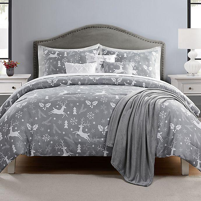 Alternate image 1 for Reindeer Prance 7-Piece Reversible Comforter Set