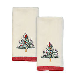 Spode Christmas Tree Fingertip Towels in Ivory (Set of 2)