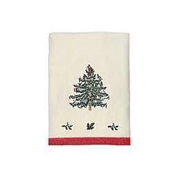 Spode® Christmas Tree Hand Towel in Ivory/Red