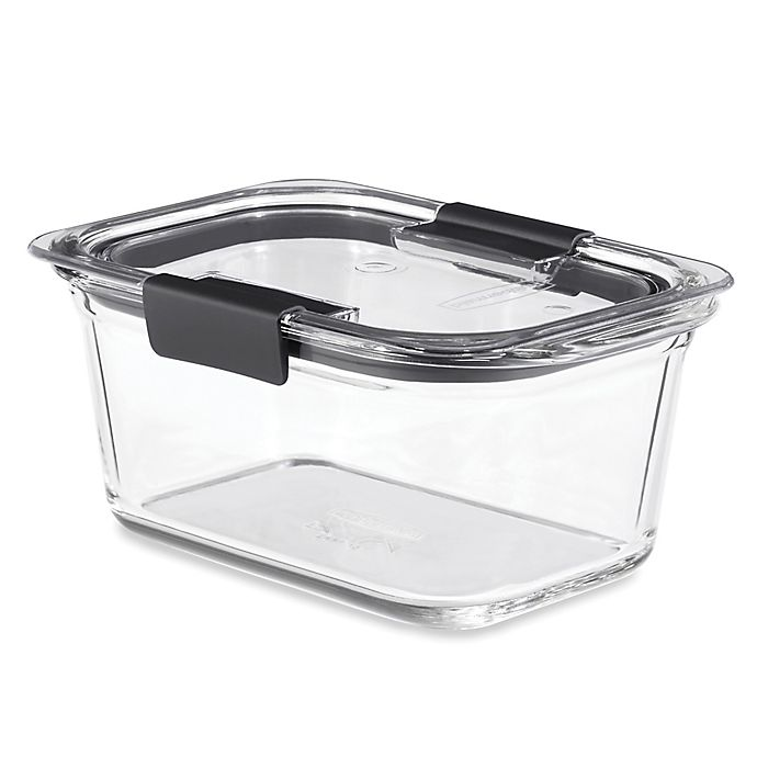 Alternate image 1 for Rubbermaid® Brilliance Glass Food Storage Container with Lid