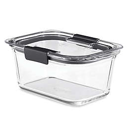 Rubbermaid® Brilliance Glass Food Storage Container with Lid