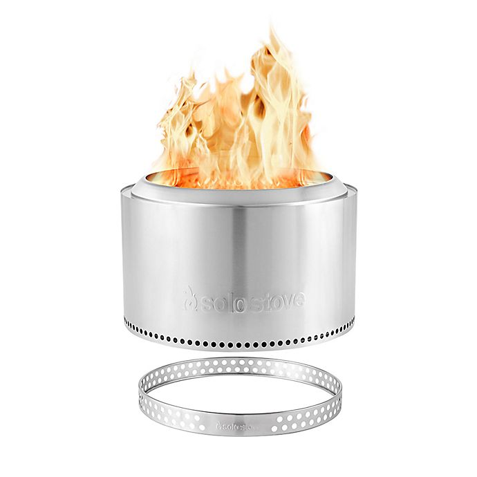 Alternate image 1 for Solo Stove Yukon Stainless Steel Wood-Burning Fire Pit and Stand
