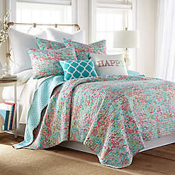 Levtex Home Karola 2-Piece Reversible Twin Quilt Set in Teal