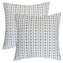Levtex Home Basel European Pillow Shams in Black (Set of 2)
