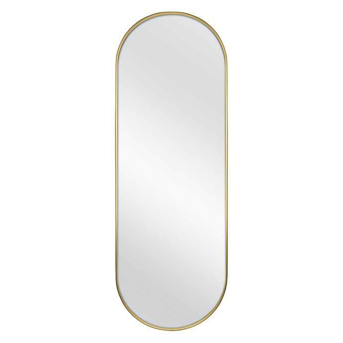 Alternate image 1 for 56-Inch x 19-Inch Oval Metal Over the Door Wall Mirror