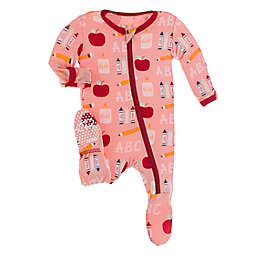 Kickee Pants® 1st Day of School Footie Pajama in Blush