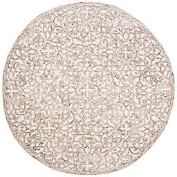 Safavieh Trace Linas 6' Round Area Rug in Brown
