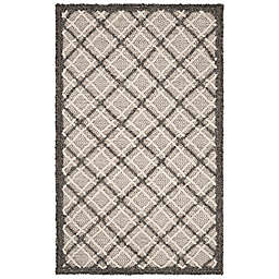 Safavieh Trace Bornel 2'3 x 4' Handcrafted Accent Rug in Dark Grey