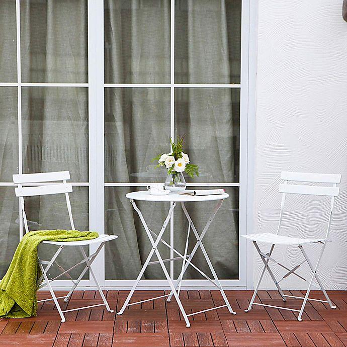 Alternate image 1 for Patio 3-Piece Foldable Bistro Furniture Set