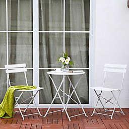 Patio 3-Piece Foldable Bistro Furniture Set