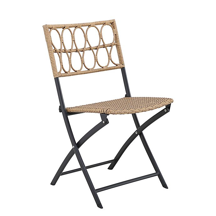 Alternate image 1 for Bee & Willow™ Home Elmridge Wicker Folding Chair in Brown/Black