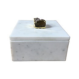 W Home Marble/Geode Trinket Box
