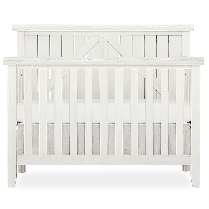 Alternate image 1 for SweetPea Baby® by Evolur Rose Wood 4-in-1 Convertible Crib in Weathered White
