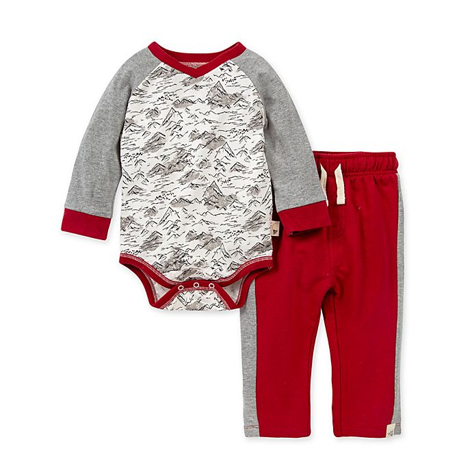 Alternate image 1 for Burt's Bees Baby® Rocky Mountains Organic Cotton Bodysuit and Pant Set