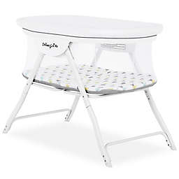 Dream On Me Poppy Portable Bassinet in White/Grey