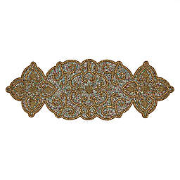 Saro Lifestyle Beaded 36-Inch Table Runner in Gold