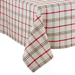 Saro Lifestyle Plaid 70-Inch Square Tablecloth in Red/Green