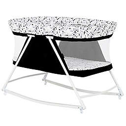 Dream on Me Palm 3-in-1 Bassinet Playpen in Black/White