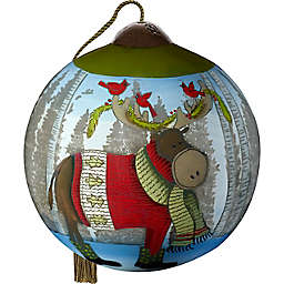 Ne'Qwa® Forest Friends 2.5-Inch Glass Christmas Ornament in Grey/Blue