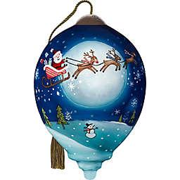 Ne'Qwa®  'Twas Christmas Night 3-Inch Glass Christmas Ornament in Blue