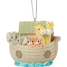 Precious Moments® 2.5-Inch Noah's Ark Porcelain Christmas Ornament in Green