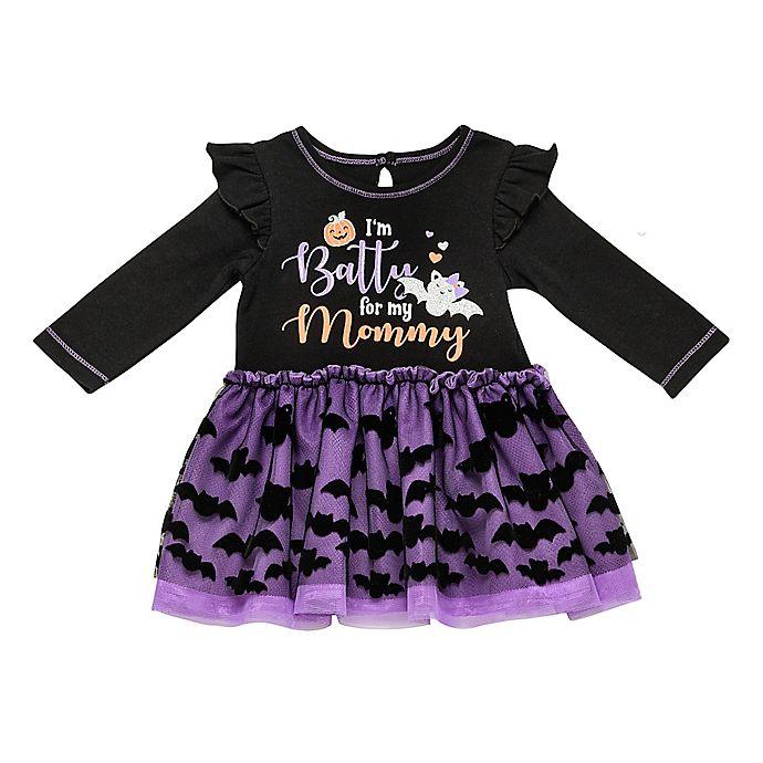 Alternate image 1 for Baby Starters® Halloween Batty Dress in Black