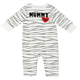 """Baby Starters® """"Mummy Loves Me"""" Halloween Coverall in White"""