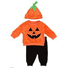 Baby Starters® 3-Piece Pumpkin Shirt, Pant, and Hat Set in Orange