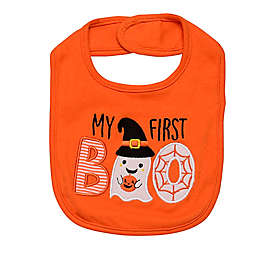 "Baby Starters® ""My First Boo"" Bib in Orange"