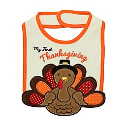 "Baby Starters® ""My First Thanksgiving"" Bib in Ivory"