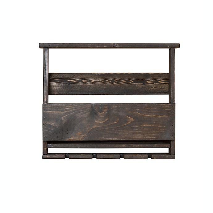 Alternate image 1 for Del Luxe Top Shelf Wine Rack in Dark Walnut