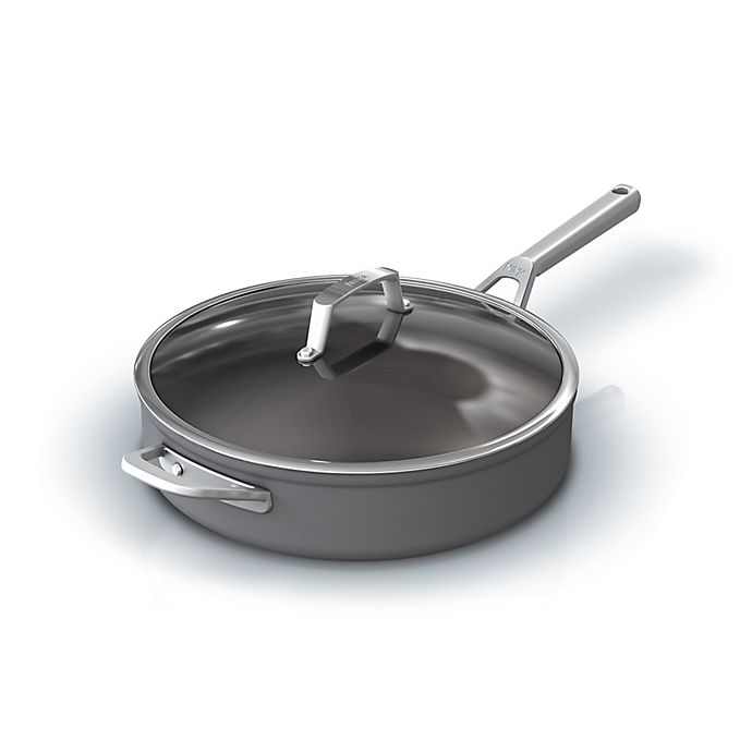 Alternate image 1 for Ninja™ Foodi™ NeverStick™ Premium Hard-Anodized 5 qt. Covered Saute Pan