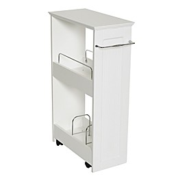 Zenna Home® Rolling Storage Bath Shelves in White