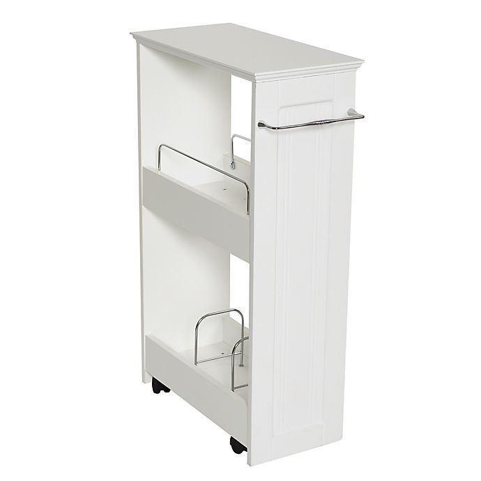 Alternate image 1 for Zenna Home® Rolling Storage Bath Shelves in White