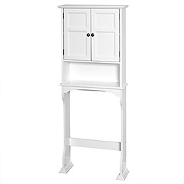 Zenna Home® Collette Wood Over-the-Toilet Bathroom Spacesaver in White