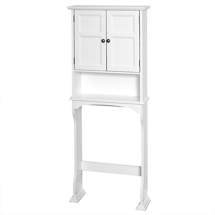 Alternate image 1 for Zenna Home® Collette Wood Over-the-Toilet Bathroom Spacesaver in White