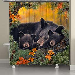 Laural Home® Warm Cozy Bear Shower Curtain