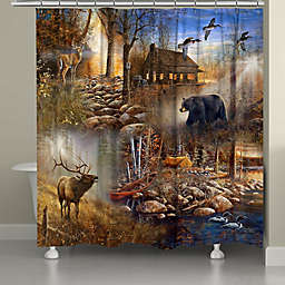 Laural Home® Forest Collage 71-Inch x 72-Inch Shower Curtain
