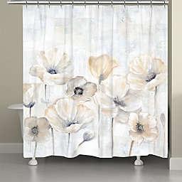 Laural Home® Gray Poppy Garden 71-Inch x 72-Inch Shower Curtain