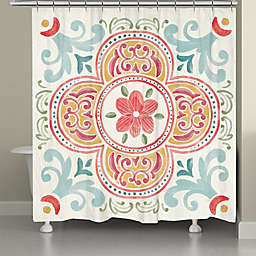 Laural Home® Spring Medallion 71-Inch x 72-Inch Shower Curtain