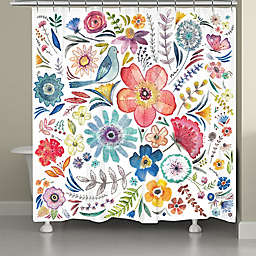 Laural Home Floral Bling Shower Curtain