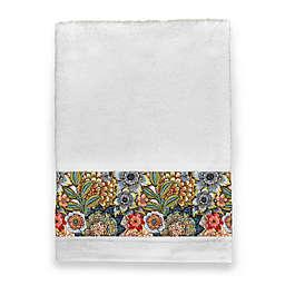 Laural Home Boho Bouquet Bath Towel in White