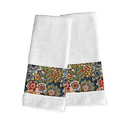 Laural Home Boho Bouquet Hand Towels in White (Set of 2)