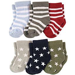 Luvable Friends® 6-Pack Star Stripes Socks