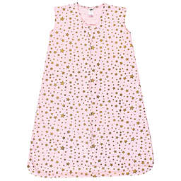 Hudson Baby® Size 0-6M Gold Pink Star Wearable Blanket
