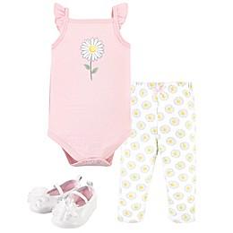 Hudson Baby® 3-Piece Daisy Layette Set in Pink