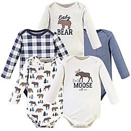 Hudson Baby® 5-Pack Long Sleeve Moose Bodysuits