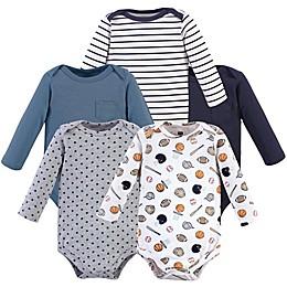 Hudson Baby® 5-Pack Sports Long Sleeve Bodysuits