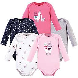 Hudson Baby® Size 18-24M 5-Pack Llama Long Sleeve Bodysuits
