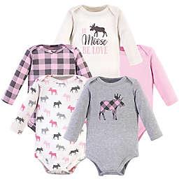 Hudson Baby® Size 18-24M 5-Pack Moose Long Sleeve Bodysuits